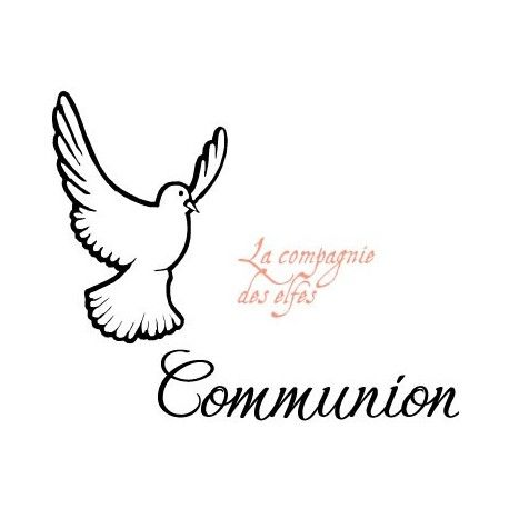 tampon scrapbooking communion