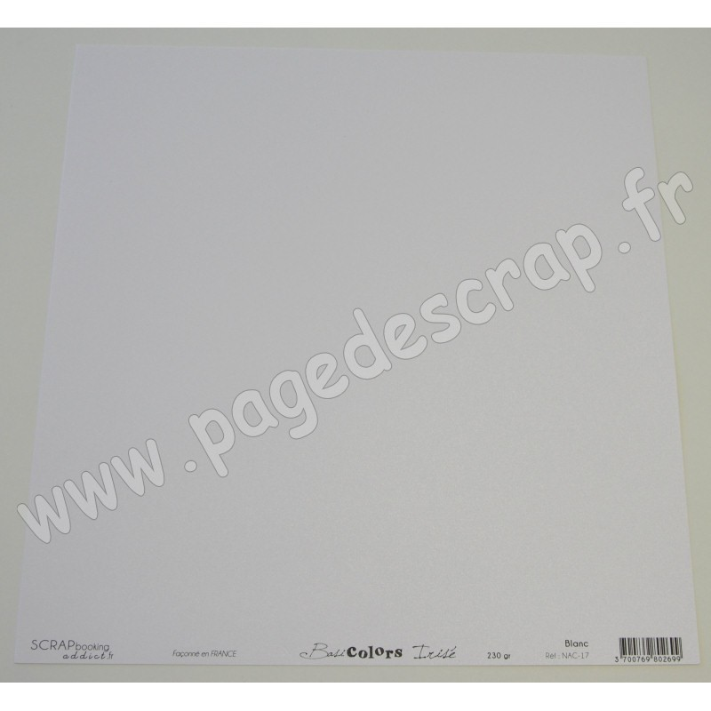 papier scrapbooking blanc irise
