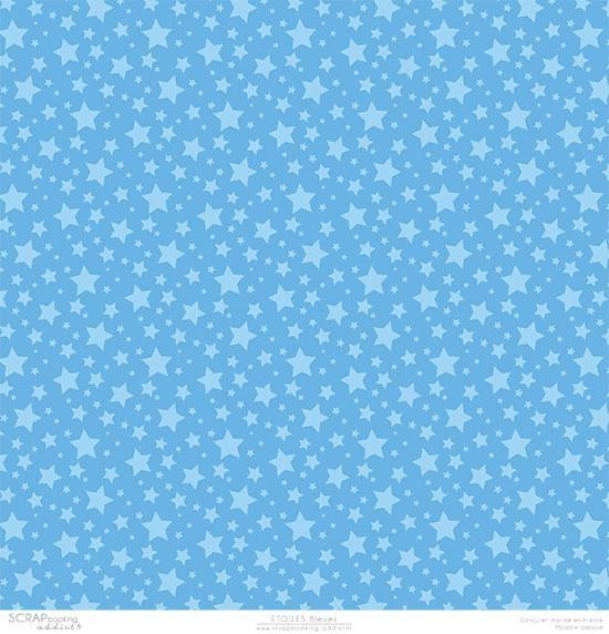 papier scrapbooking bleu