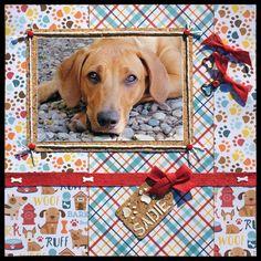 papier scrapbooking chien