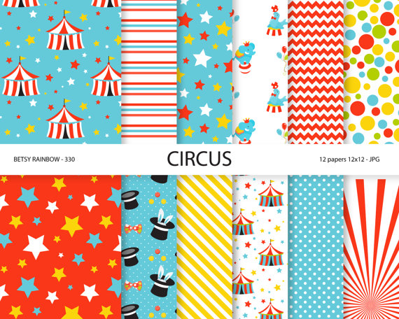 papier scrapbooking cirque