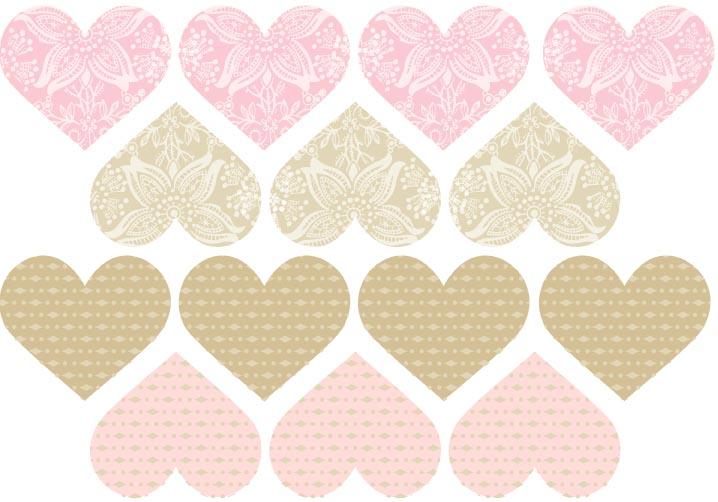 papier scrapbooking coeur