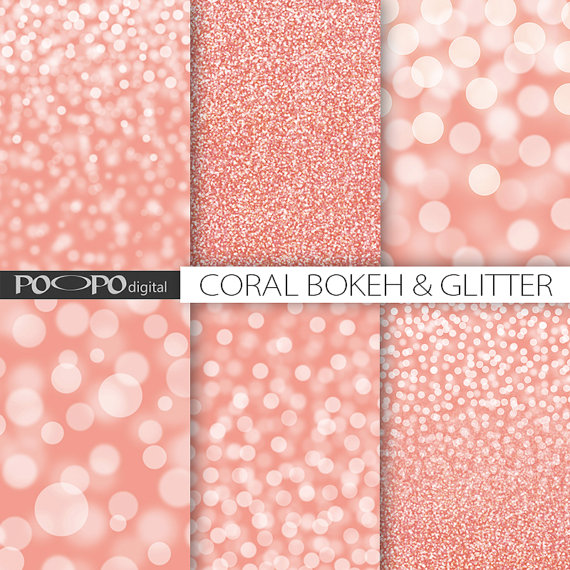 papier scrapbooking corail