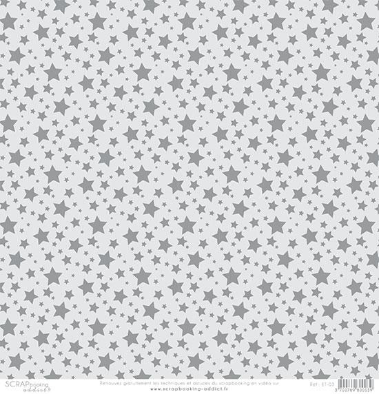 papier scrapbooking gris