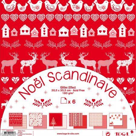 papier scrapbooking noel scandinave
