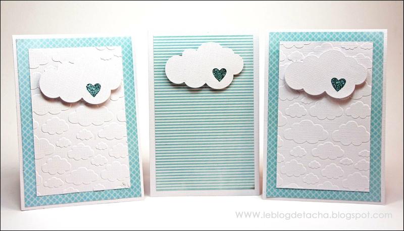 papier scrapbooking nuage