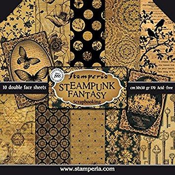 papier scrapbooking steampunk
