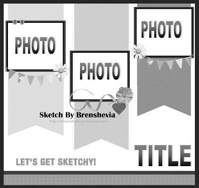 scrapbooking 3 photos layout