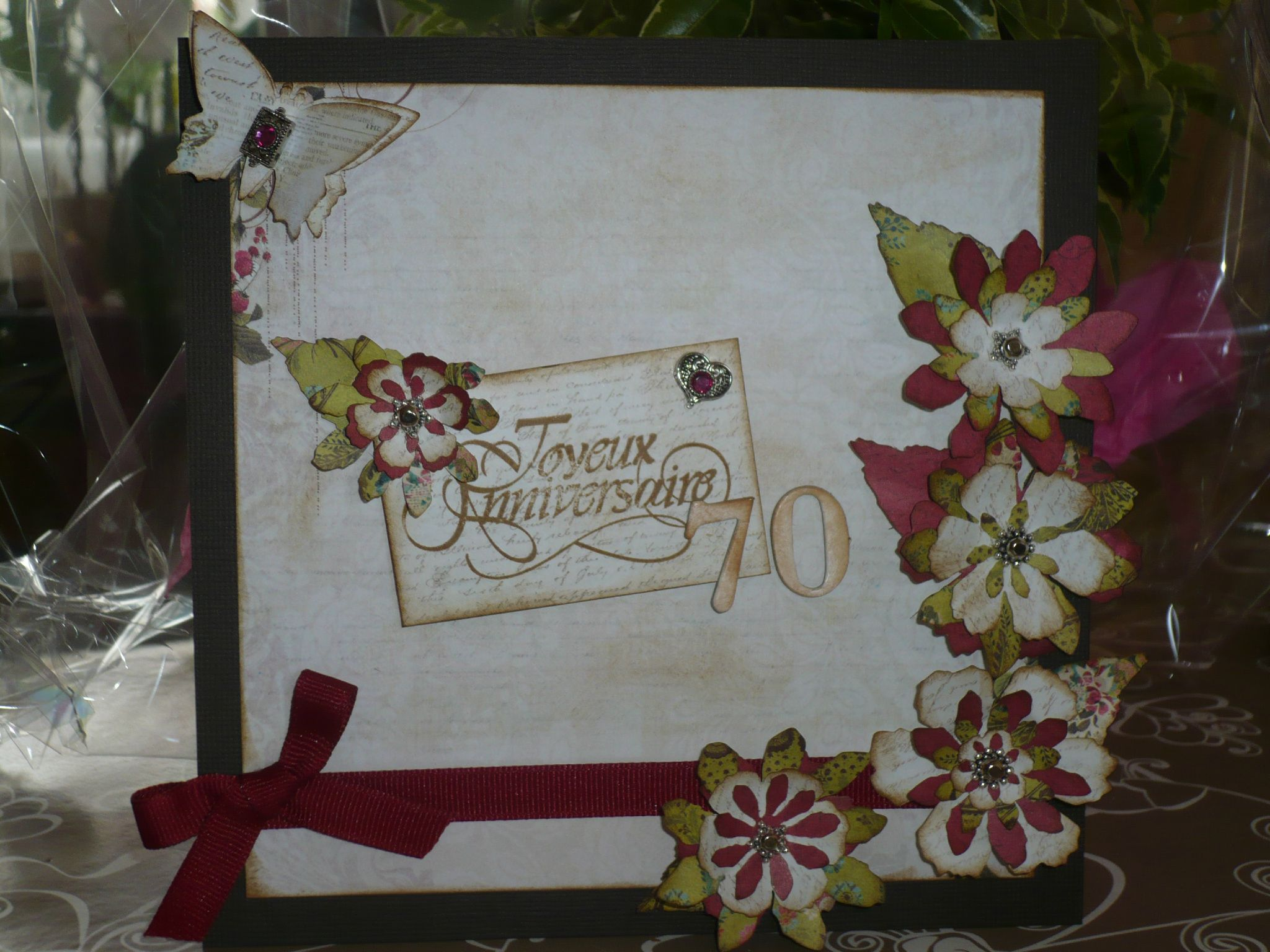 scrapbooking anniversaire 70 ans