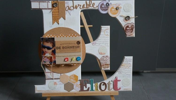 scrapbooking lettre carton