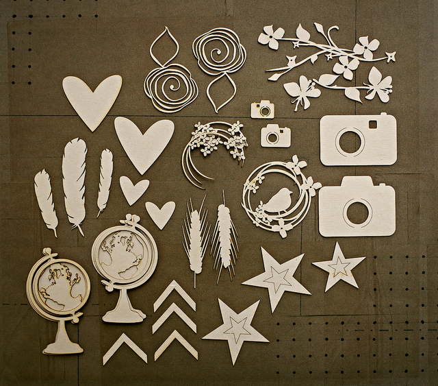 scrapbooking with chipboard