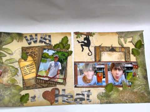 scrapbooking zoo pages
