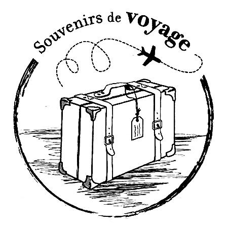 tampon scrapbooking voyage